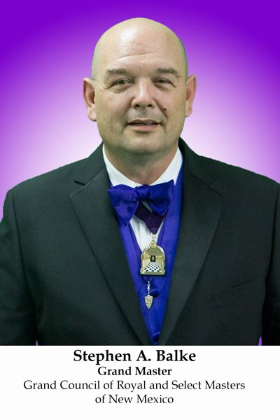 Stephen A. Balke, Grand Master of Royal and Select Masters of New Mexico