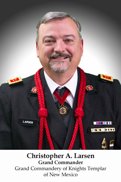 Christopher A. Larsen, II, Grand Commander of Knights Templar of New Mexico